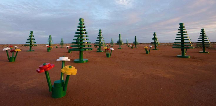 LEGO life size forest in the australian outback