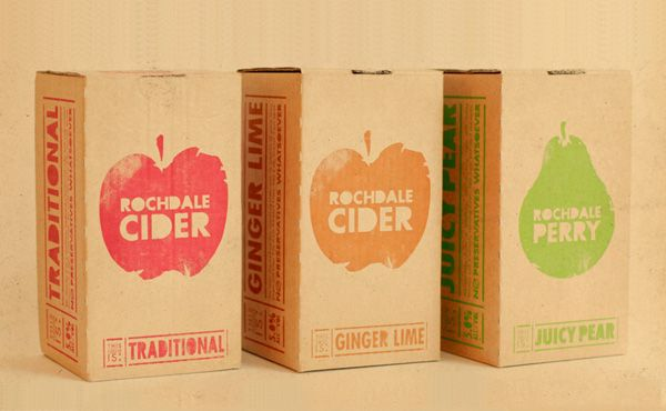 Fruit juice with unique designs and one colour to keep the packaging simple.
