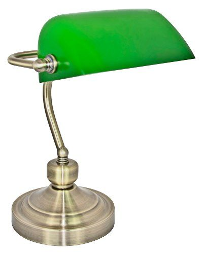 450 kr. Traditionally Designed Antique Brass Bankers Desk Lamp with Green Glass Shade by Haysom Interiors Haysom Interiors http://www.amazon.co.uk/dp/B0117MIT1G/ref=cm_sw_r_pi_dp_0oX3wb0QCFEJZ