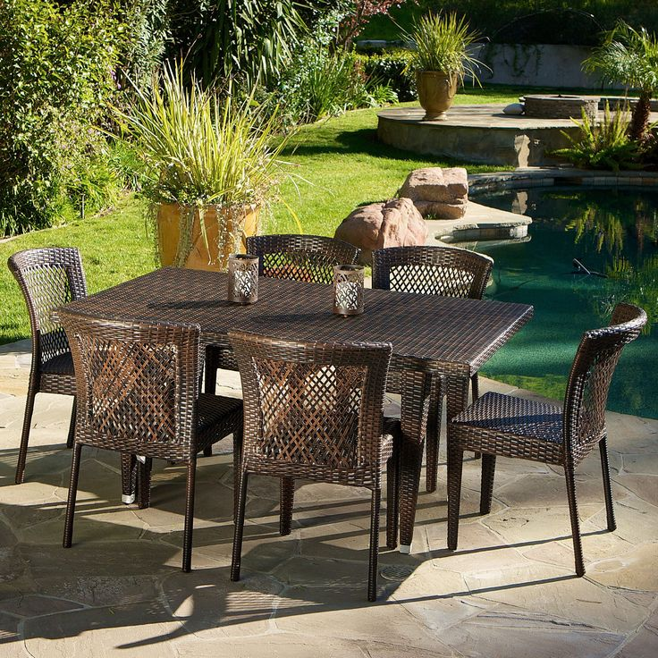 Dusk Outdoor Dining Set by Christopher Knight