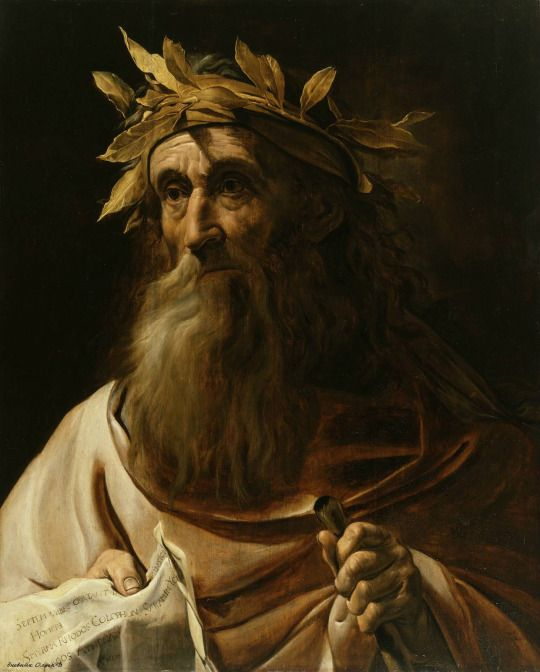 Portrait of the poet Homer Michelangelo Merisi da Caravaggio (Italian, 1571-1610)