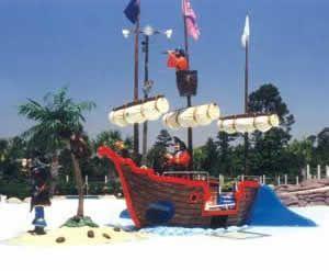 Pirate Ship Spray Ground w/ Island