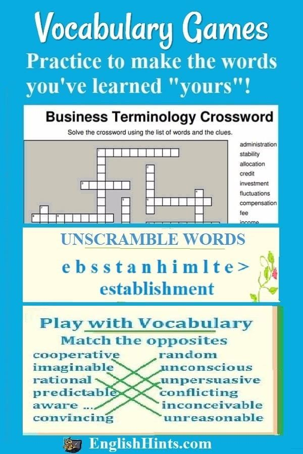 vocabulary online practice