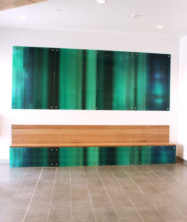 Tasmanian artists, Jerome Dobinson and Amanda Kay collaborated with Matt Westlake last year to produce Wisp, a public art installation inside the Glenorchy Police Station for the Tasmanian Government Art Site Scheme. Dobinson and Kay are joint Creative Directors at Hobart design studio The 3rd Door (T3D). #publicart #glasstreatment