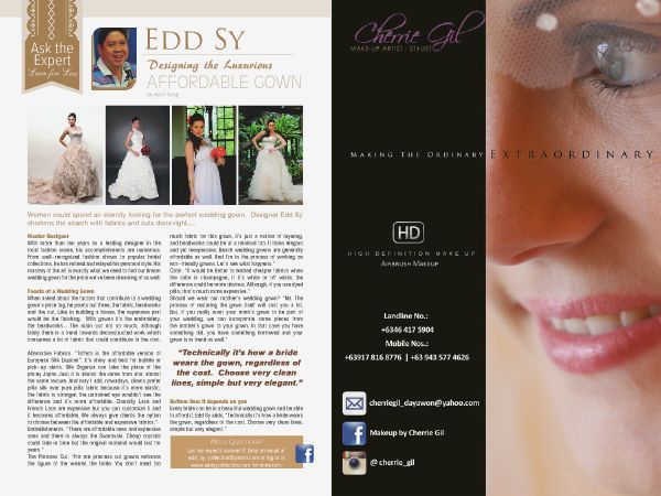 Catch Makeup by Cherrie Gil at the Revised edition of WEDDING DIGEST LUXE for LESS ISSUE. Now available for free browsing at www.weddingdigest.com.ph #WeddingDigestPh #emagazine #LuxeforLess #weddings #iloveweddings #makeupartist #Makeupbycherriegil