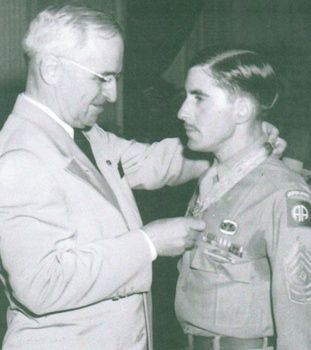 1st Sgt. Leonard A. Funk Jr. Medal of Honor. 508th Parachute Infantry, 82nd Airborne Division. World War II.