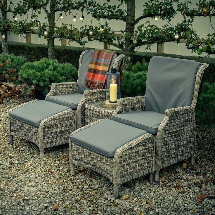 Burford Woven Garden Recliner Chair Set