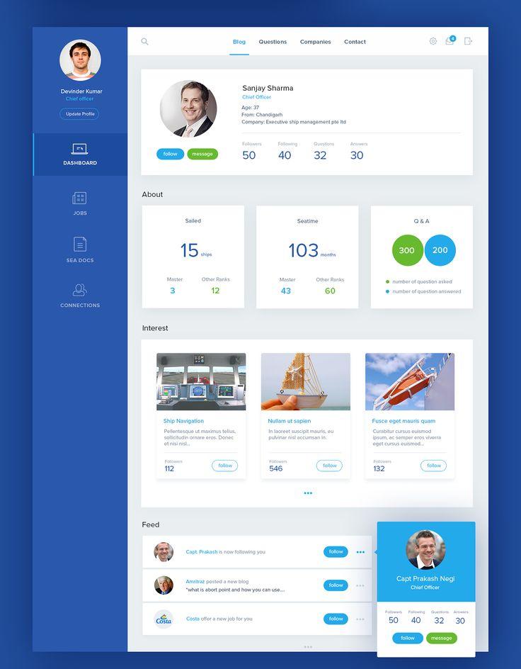 MySeaTime Website Design on Behance