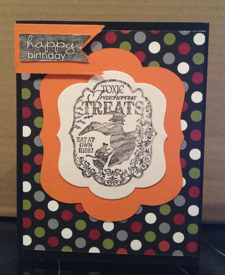 Halloween Birthday Card - stampin up | Stamping and Crafts | Pinterest: pinterest.com/pin/268949408970980383