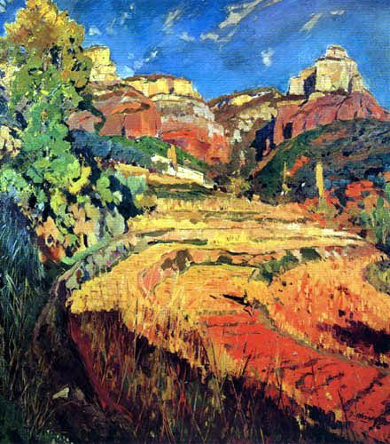 Joaquim Mir i Trinxet - The Red Valley, 1924