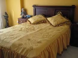 Resultado de imagen para tendido de cama bordado a mano