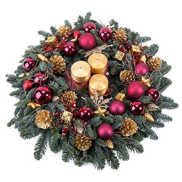 Цветы подарок, букет из елочных лапок