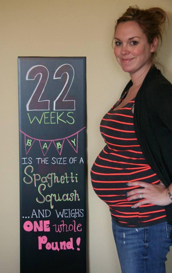 22 weeks pregnancy chalkboard