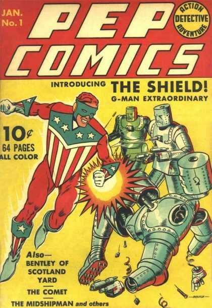 Pep Comics #34: Golden Age Superhero Comic 1942 by Kari A Therrian