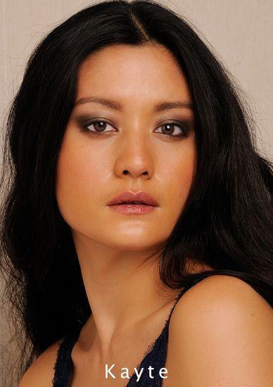 Asian model comp card professional studio headshot. Photographed by Kent Johnson.