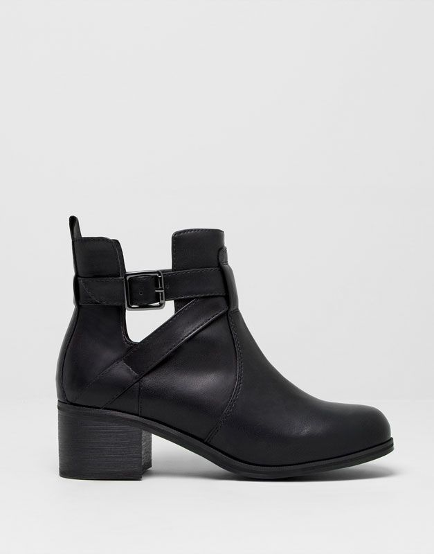 :BOTTINES TALON OUVERTURE LATÉRALE pull and bear