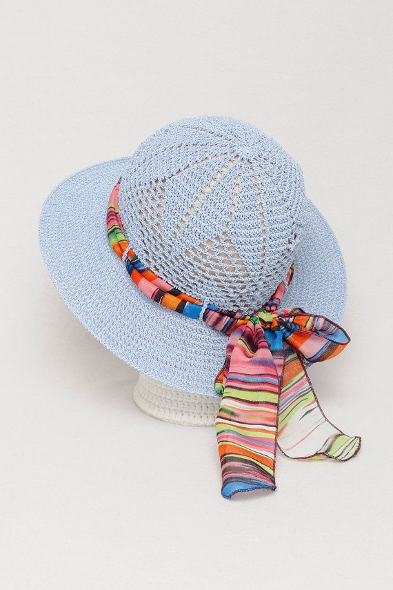 Woman summer hat  Classic woman hat  Woman hat by MeetBestKnit