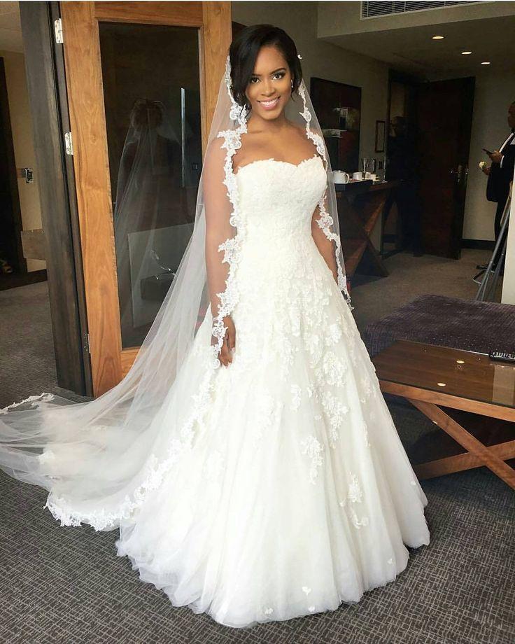 Absolutely stunning bride @itsnixx. Pretty cathedral veil. Makeup by @edeebeau. #africansweetheartweddings #bride #weddingdress