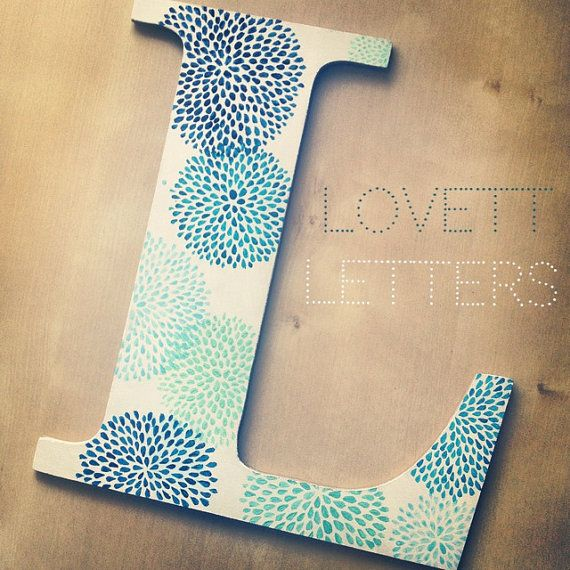 Dot Hand Painted Letter by LovettLetters on Etsy, $16.00