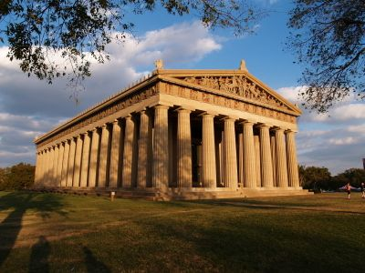 Centennial park, Nashville, The Athens of The South, replica of Athena and the Parthenon, FULL SCALE.