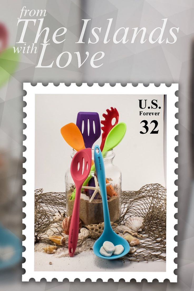 Cook on island time with this cheerful set of cooking utensils that's sure to send you straight to paradise! Beauty and function combine in this set designed with the colors of the tropics.