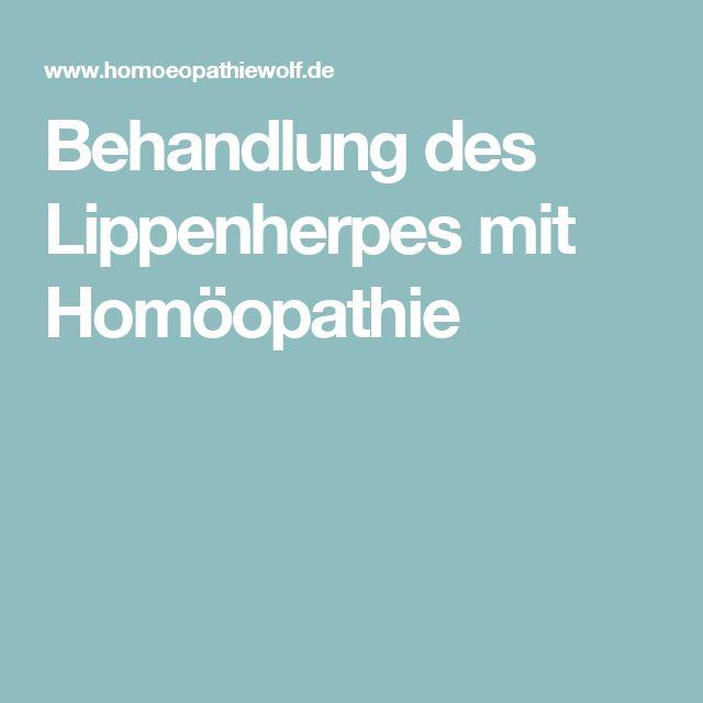 Behandlung des Lippenherpes mit Homöopathie