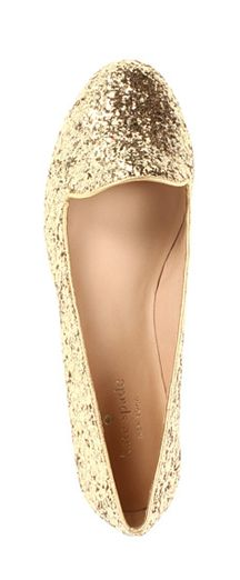 Glitter flats by Kate Spade
