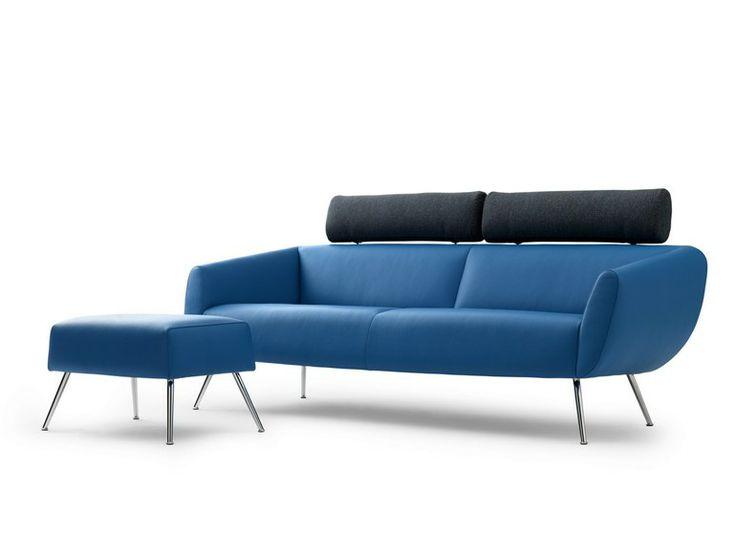 3 Seater Sofa With Headrest MARABEAU   LEOLUX