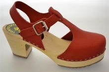 Trätoffel (56114305-t red leather)