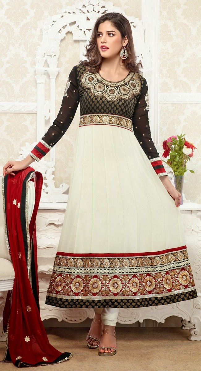 Majesty Black & Ivory Salwar Kameez