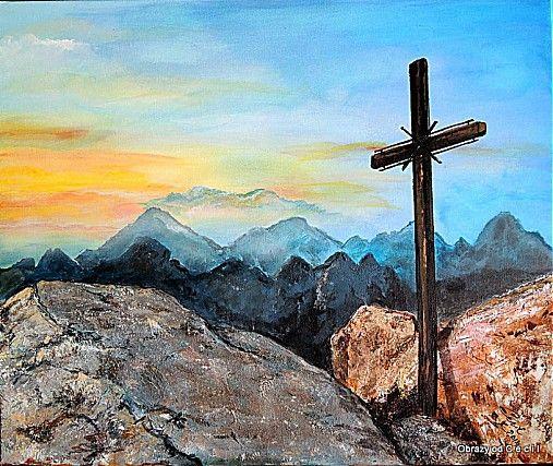 Na vrchole hôr by Cecil - SAShE.sk - Handmade Obrazy