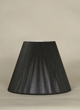 An Empire Silk String Lamp Shade With A Hand Sewn Soft Lining.