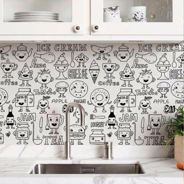 Las 25 mejores ideas sobre papel tapiz de cocina en - Papel para cubrir paredes ...