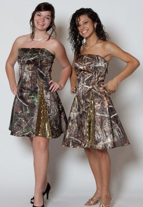 Short Camo Prom Dress for a Fancy Date : short camo prom dresses cheap