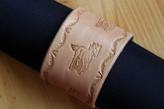 Handmade Running Horse Bracelet by Tina's Leather Crafts on Etsy,com.  Repin To Remember.
