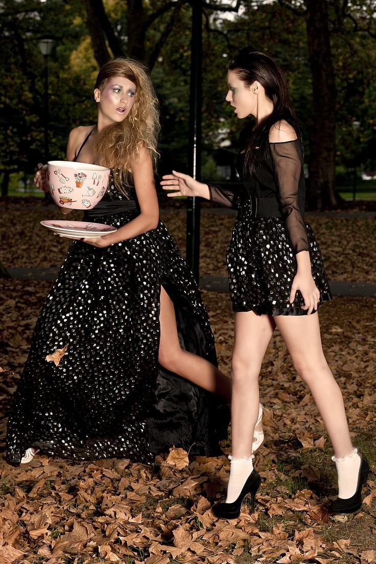 Italian Foil Silk Gown and Skirt by Denise SL Spalk