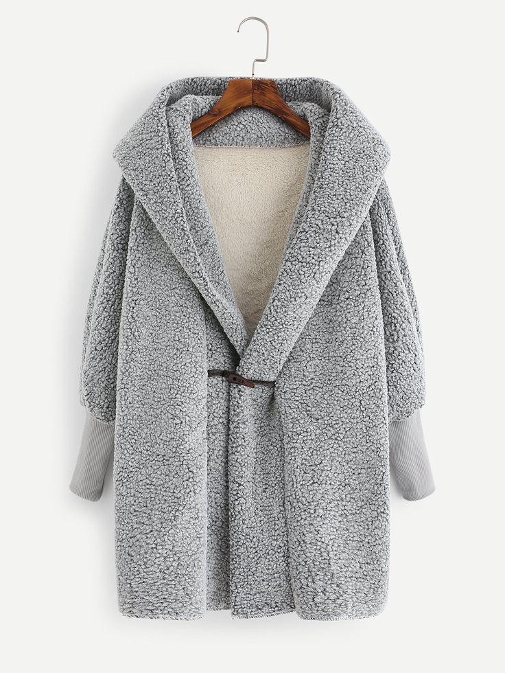 Shop Faux Shearling Hooded Coat online. SheIn offers Faux Shearling Hooded Coat & more to fit your fashionable needs.