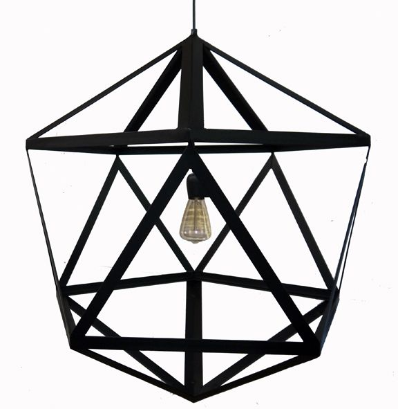Pentagon/diamond shaped lighting fixture
