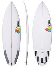 CHANNEL ISLANDS THE 4 BY DANE REYNOLDS GROVELER SURFBOARD - CLEAR
