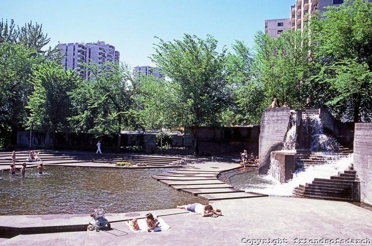 portland or fountains | LoveJoy Fountain Park, Portland: Lawrence Halprin | Public Use of ...