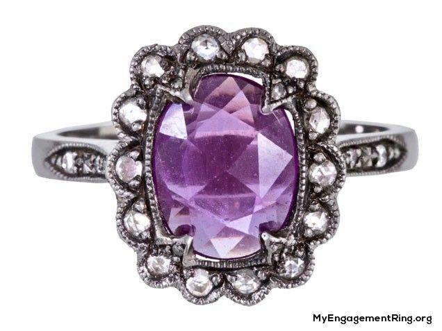 unique purple diamond engagement ring - My Engagement Ring