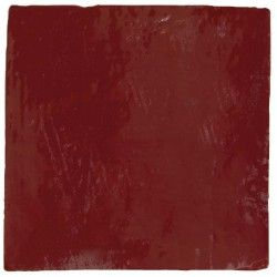 Carrelage mural ancien brillant rouge 13 x 13 cm for Carrelage mural rouge