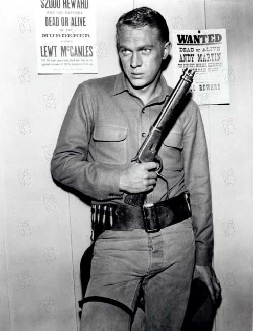 Imagined - Wanted Dead or Alive - Steve McQueen as Josh Randal the bounty hunter with the sawed off Winchester - ... JamesAZiegler.com