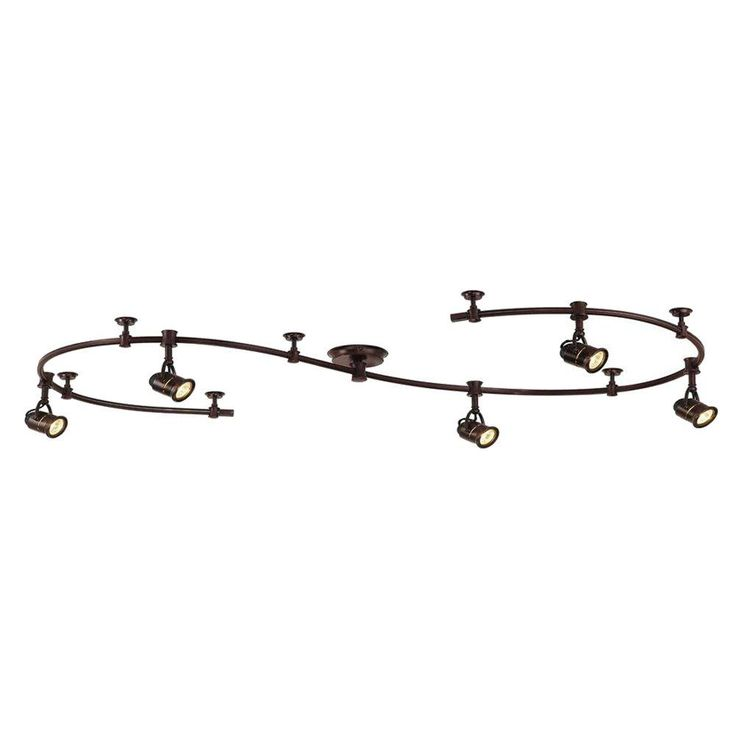 Hampton Bay 5-Light 10 ft. Antique Bronze Retro Pinhole Flexible Track Lighting Kit-EC6827ABZ at The Home Depot