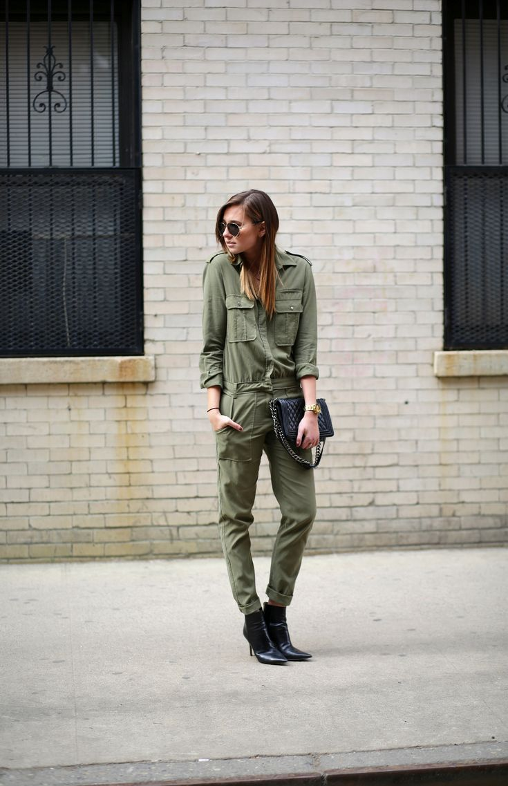 28 best military green jumpsuit images on pinterest. Black Bedroom Furniture Sets. Home Design Ideas