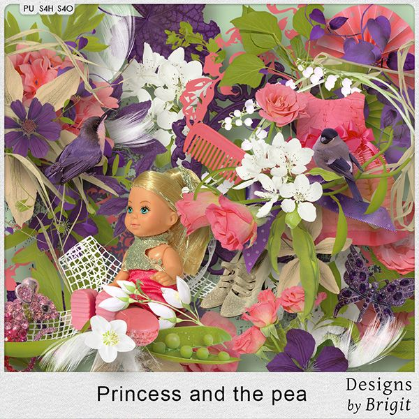 Digital Art :: Kits :: Princess and the pea kit by Designs by Brigit