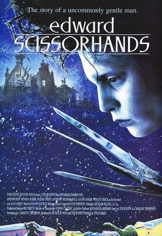 """Edward Scissorhands"" (1990) - directed by Tim Burton. What a masterpiece. What a masterpiece this movie is."