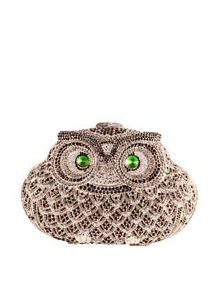 50% OFF Ciel Collectables Bejeweled Owl Handbag (Black/White Crystal)