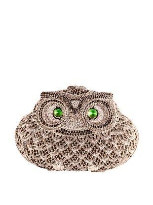 50% OFF Ciel Collectables Bejeweled Owl Handbag (Black/White Crystal)