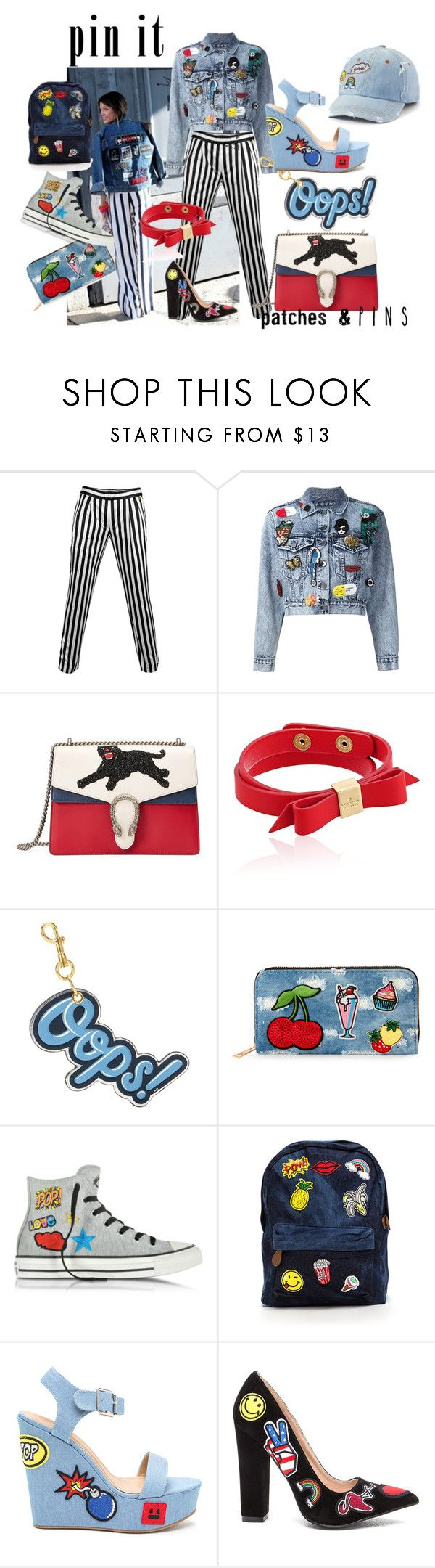 """""""Senza titolo #63"""" by tulipano89 ❤ liked on Polyvore featuring .mcma., Alice + Olivia, Gucci, Kate Spade, Anya Hindmarch, Viola, Converse and SO"""